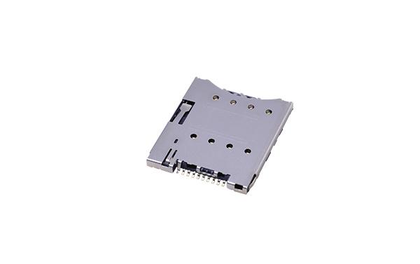 micro sim push 8p h1.28卡座连接器